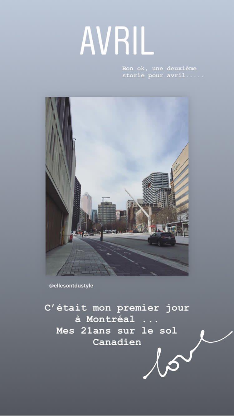 mon anniversaire à Montréal